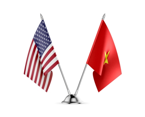 Illustrating a trade agreement between the U.S. and Vietnam.