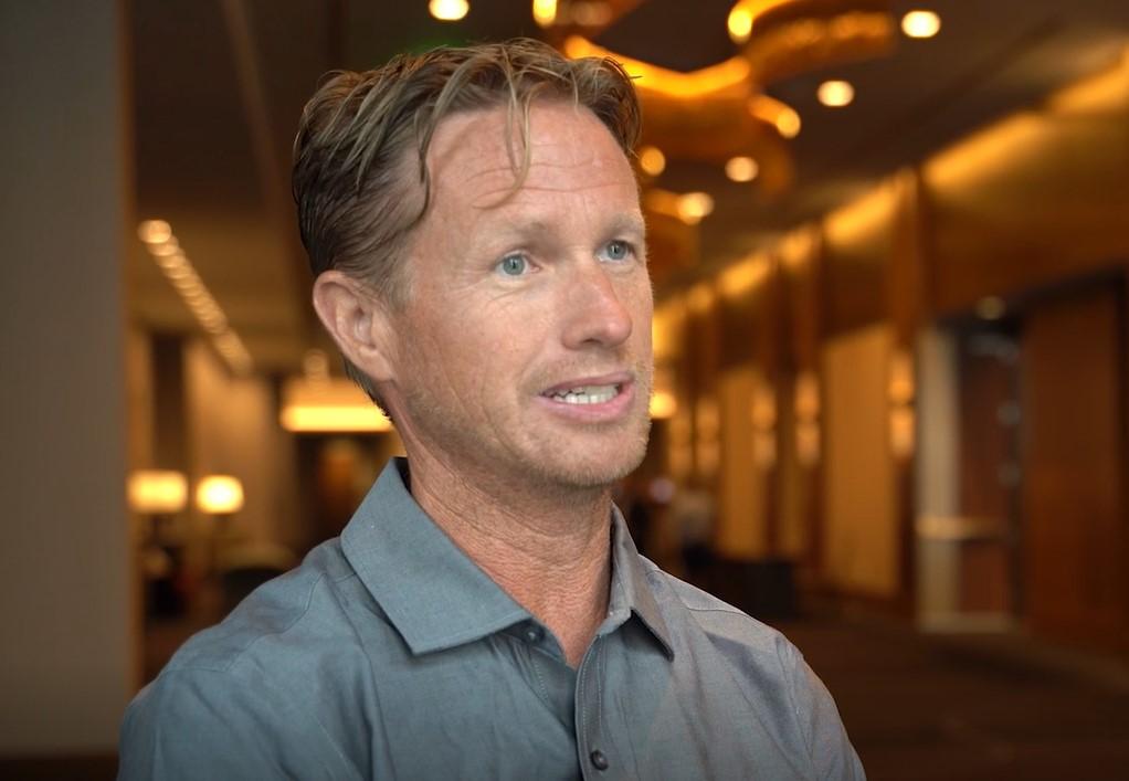 Idaho farmer Cory Kress at the USW Board of Directors meeting.