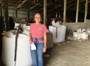 Sarah Ahrens, Nebraska Wheat Board, a first time wheat farmer